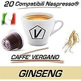 """'Cápsulas compatibles Nespresso®, Cápsulas de Caffè Vergano Mezcla """"Ginseng Dolce línea Espresso–El auténtico Café italiano"""