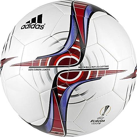 adidas UEFA Europa League Capitano - Balón de fútbol, color blanco, talla 4