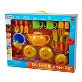 PlayGo 3145 - Küchen-Set, bestehend aus 22 Zubehörteilen (Töpfe, Pfannen, Teller, Tassen, Besteck uvm.)