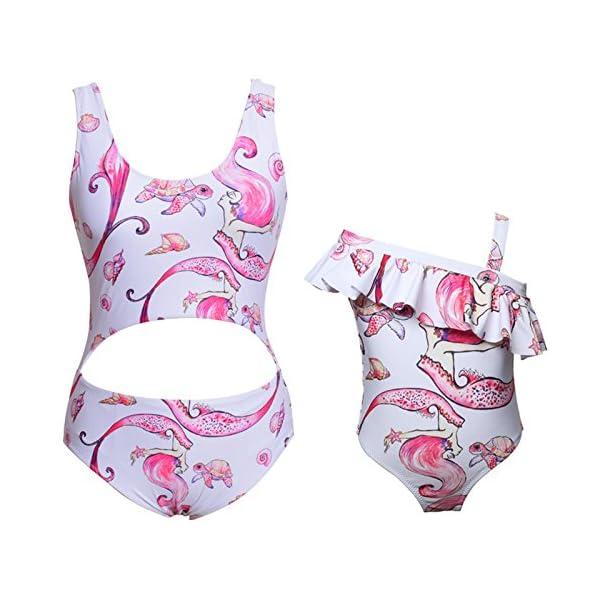 Costumi da Mare Madre e Figlia Moda Bikini Floreale Due Pezzi Boho Hippie Chic Tankini con Volant Uguale Abbigliamento… 5 spesavip