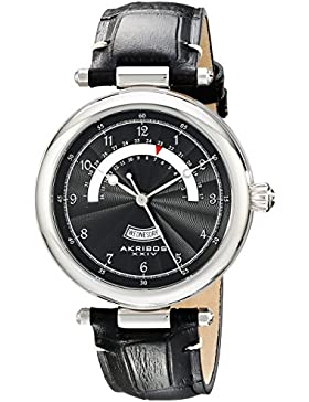 Akribos XXIV Herren-Armbanduhr AK795SSB Analog Quarz