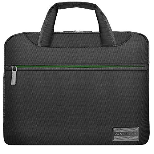 Vangoddy Nineo Hybrid Ärmel-Stil mit System/Messenger/Aktentasche/Notebook Tablet Chromebook Tasche passt 25,4cm-29,5cm Zoll (grau/grün)