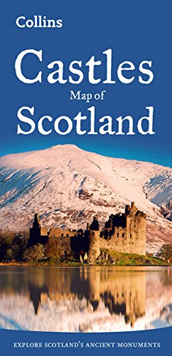 Castillos de Escocia. Mapa plegado. Varas escalas. Collins. (Collins Pictorial Maps) por VV.AA.