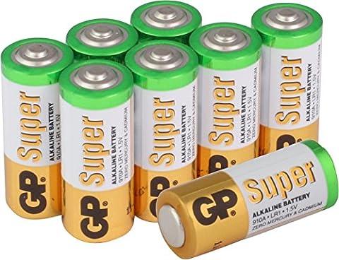 Batterien Typ Lady / N / LR1 Super Alkaline 8 Stück im Sparpack [hohe Leistung & lange Haltbarkeit, Markenprodukt GP (Lr1 Akku)