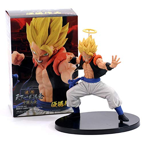 Anime Dragon Ball Z Gogeta Vegeta Son Goku Fusion Angel Aura Super Saiyan Chocolate Figuration Com Figura de acción PVC DBZ Modelo, Punch
