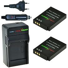 2x Batería + Cargador ChiliPower Nikon EN-EL12, ENEL12 1250mAh para Nikon Coolpix AW100, AW100s, AW110, AW110s, P300, P310, P330, S31, S70, S610, S620, S630, S640, S710, S800c, S1000pj, S1100pj, S1200pj, S6000, S6100, S6150, S6200, S6300, S8000, S8100, S8200, S9050, S9100, S9200, S9300, S9400, S9500