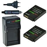 ChiliPower EN-EL12, ENEL12 Kit: 2x Akku + Ladegerät für Nikon Coolpix AW100-AW110s, P300-P330, S31, S70, S610-S640, S710, S800c, S1000pj, S1100pj, S1200pj, S6000-S6300, S8000-S8200, S9050-S9500