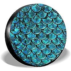 Dem Boswell Reserverad Reifen Abdeckung Meerjungfrau Waage Trinkwasser Polyester Universal Wasserdicht Staubdicht Sonnencreme Universal Fit