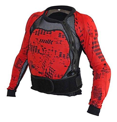UNIK - Peto integral protecciones espuma Negro/Rojo