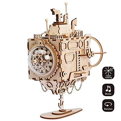 Puzzles to Build Your Own Wooden Music Box Craft Kit Brain Teaser for Children and Adults for Teen Gifts DIY Puzzle Toy with A Cute Song Best Birthday Gifts for Adults ()