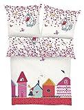 Beauty.Scouts S.Oliver 2-TLG. Renforcé Kinder Bettwäschen- Set Princess Castle pink Größe 40 x 60 cm + 100 x 135 cm