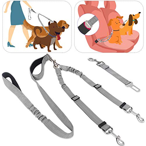 SlowTon Cinturón de Seguridad de Coche para Perros Doble cinturón de