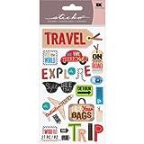 EKSuccessBrands Dekorative Sticko-Sticker Happy Traveling