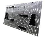 Werkzeugwand Lochwand mit 17 -tlg.Hakensortiment Werkstatt aus Metall - 2