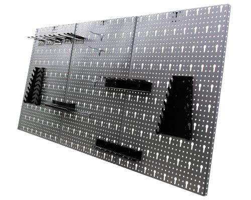 Ondis24 große Werkzeugwand 120 x 60 cm Lochwand mit 22 -tlg.Hakensortiment Werkstatt aus Metall - 2