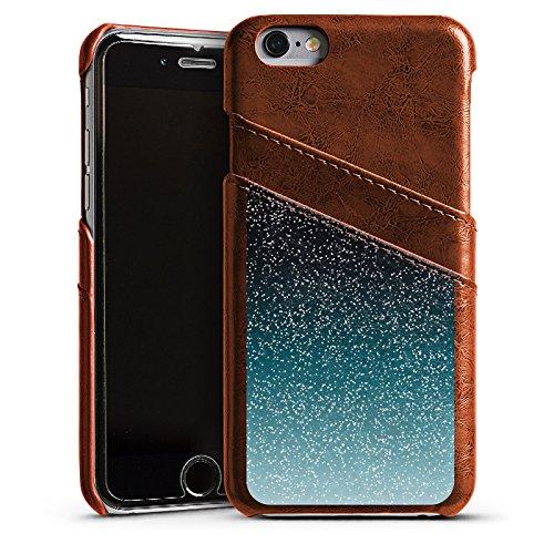 Apple iPhone 4 Housse Étui Silicone Coque Protection Paillettes Bling-bling Motif Étui en cuir marron