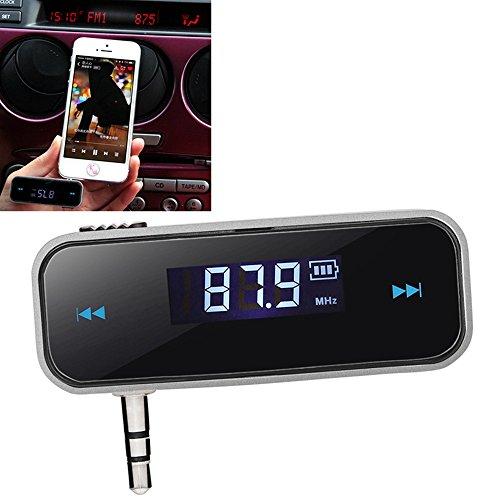SKS Distribution® LCD Display Wireless Mini 3,5mm mit USB Kabel FM Transmitter MP3KFZ Player für Smart Handy FM Modulator