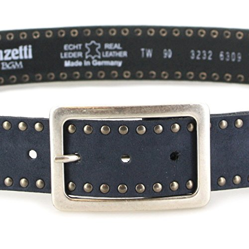 Vanzetti - Ceinture - Femme Noir Noir Gris - 770 Stahlgrau