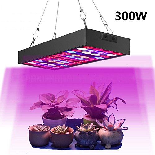 LED Horticole Lampe 300W Lampe Croissance Eclairage Interieur Grow Light Plante Verte Chambre À Double Chips Full Spectrum Bleu Serre Floraison