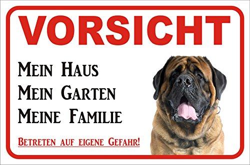 Schild - Vorsicht Mastiff 'Mein Haus' (20x30cm)