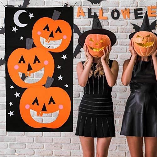 Krystallove Spiel werfen Sandsäcke + Banner - Halloween Kürbis Vlies Ornamente Filz