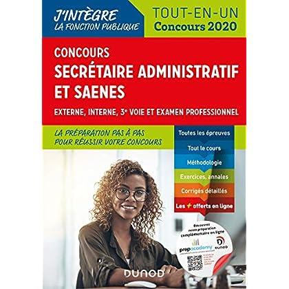 Concours Secrétaire administratif et SAENES - Tout-en-un - Concours 2020