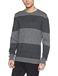 US Polo Assn. Mens Cotton Sweater (8907378316363_USSW0616_Large_Black)
