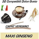 """Cápsulas compatibles con Nescafè Dolce Gusto®, Cápsulas de Caffè Vergano Mezcla """"Ginseng"""" (32 Cápsulas)"""