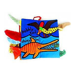 Amison Animal Tails Cloth book Baby Toy Cloth Development Books Learning & Education books by Amison