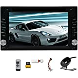 Double Din 6.2'' In Dash Head Unit GPS Car Stereo Digital Touch Screen Car DVD Player Navigation Multimedia system AM/FM Radio Support 3G Dongle/Steering Wheel Control/Bluetooth/USB/SD/iPod/Rear Camera
