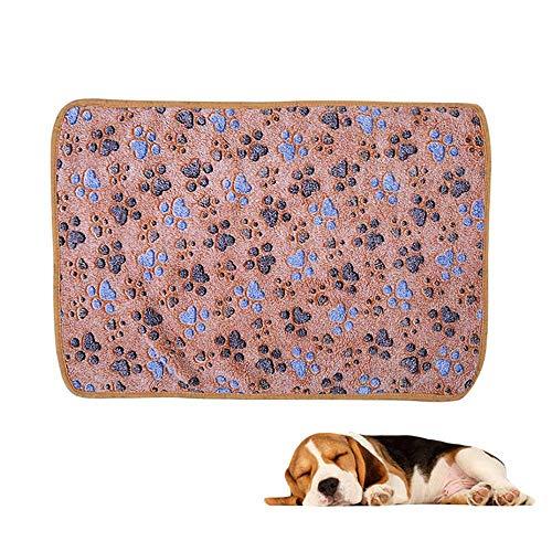 Camel-koralle (FOONEE Super weiche Haustier-Decke aus Korallen-Fleece, Haustier-freundliche Decke Haustier-Decke, hält warm Schlafmatte für Hunde und Katzen Camel L)