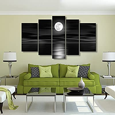 Full Moon Canvas Modern On The Wall Art Home Decorative Canvaspicture For Bedroom Surprise Artwork Framed Ready To Painting Painted For Living Room Hotel Office Gift - inexpensive UK light store.