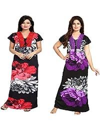 Diljeet® Women Girls Beautiful Satin Red Nighty Purple Nighty Night Dress 03150ae26