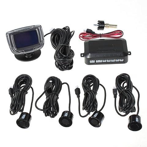 4Parking Sensors voiture Reverse Backup Front Rear LCD Display System Radar Alarm