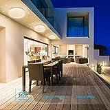 Luz de techo LED Baño Cocina Dormitorio Lámpara LED Techo Sala de estar Comedor Estudio Balcón Pasillo Habitación Redondo Moderno Impermeable Plafón LED Blanco natural 4000K 1500lm 18W LUSUNT