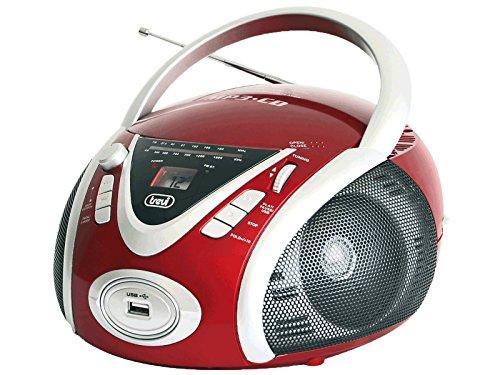 Trevi CMP 542USB Analógica 6W Rojo, Color blanco - Radio CD (Analógica, AM,FM, Jugador, CD, 6 W, MP3)