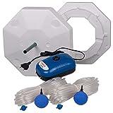 OSAGA Teich Eisfreihalter Set 4 inkl. regelbarer Luftpumpe und Zubehör, für einen eisfreien Gartenteich, Anti Ice Winter