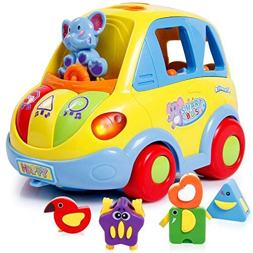 SGILE erzieherische Musikalische Spielzeugauto mit Tier und Musik Geschenk für Kinder Babys Kinderfahrzeug mini