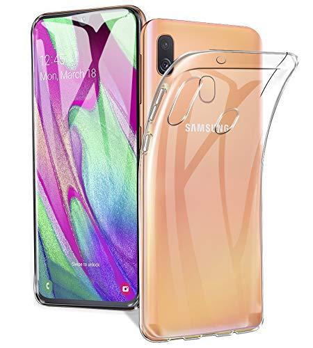 A-VIDET Hülle für Samsung Galaxy A40,Ultradünnes Silikon Mattierte Softschale R&umschutz Anti-Fall Anti-Fingerabdruck Gehäuse Einfache Rückenschutzhülle für Samsung Galaxy A40(Transparent)