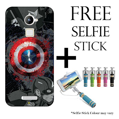 Hamee Marvel Licensed Hard Back Case Cover For Coolpad Note 3 / Cool Pad Note 3 Cover with Free Selfie Stick Monopod – Combo 16