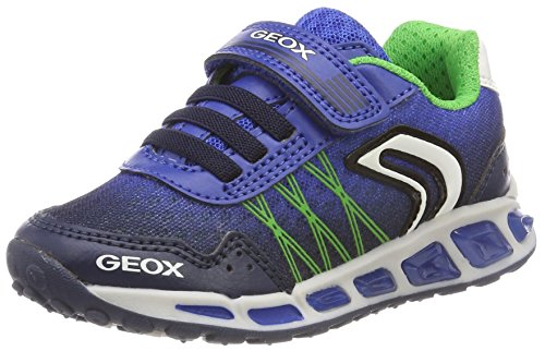 Geox Jungen J Shuttle Boy B Sneaker, Blau (Navy/Royal), 29 EU (Kid Running Sneaker)