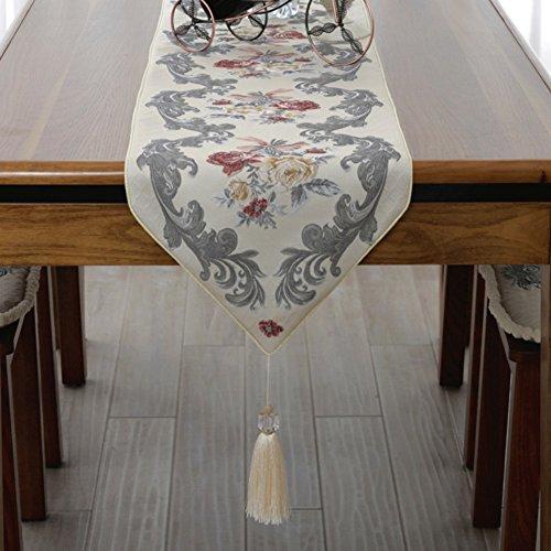 ZQ STORE Et européen de qualité luxe table runner,Tissu de table basse simple et à la mode des fleurs,Moderne piano housse de matelas-A 35x210cm(14x83inch)