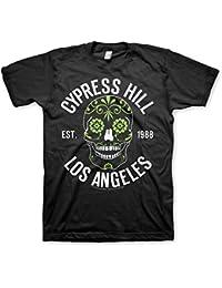 Cypress Hill Offizielles Lizenzprodukt Sugar Skull Herren T-Shirt (Schwarz)