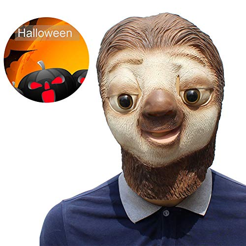 RISILAYS Tier Maske, Rutschige Maske, Latex Cosplay Halloween Lustige Party Requisiten Karneval Party Show Urlaub Geschenke,PhotoColor