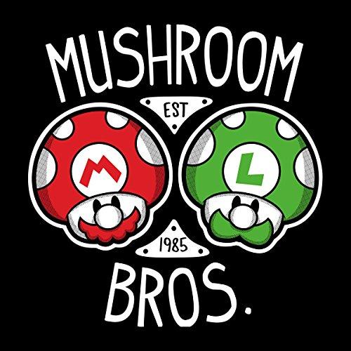 Mushroom Bros Super Mario Women's Vest Black