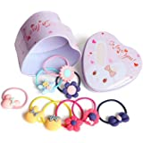 Ziory 20 pcs multicolor headband set Hair Accessories in a stylish elegant Tin Box for baby Girls and Toddler Girls (Return Gift Set)