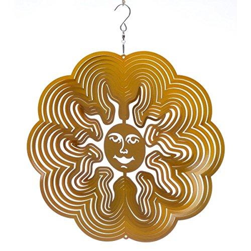 Spin Art Vent Carillon soleil original 30,5 cm, or