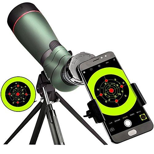 Landove Waterproof Spektiv 20-60X 65mm, High Power mit Stativ & Digiscoping Adapter, stoßfest, beschlagfrei, BAK4 Porro Prisma, voll Multi-Coated Optik