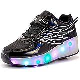 Mr.Ang Niños Unisex LED Luz Parpadea Ruedas Zapatillas Auto-párrafo Roller Zapatos Patines Deportes Zapatos Correr Para Niños Navidad Año nuevo Regalo