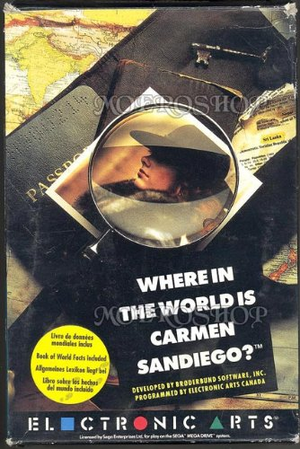 Where in the world is carmen san diego BOX - Megadrive - PAL